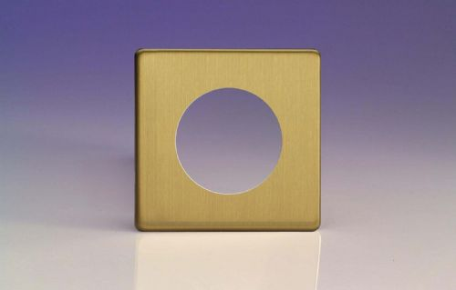 Varilight XEBG1S Euro Brushed Brass VariGrid 1 Gang Plate to fit Z1E products